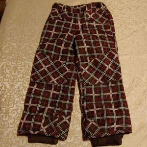 Girls snow pants size 4/5 XS